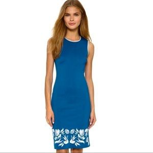 NWT CLOVER CANYON- Floral Blue Dress| Size Small